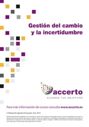 Gestión del cambio y de la incertidumbre ebook by Accerto