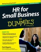 HR For Small Business For Dummies - Australia ebook by Paul Maguire