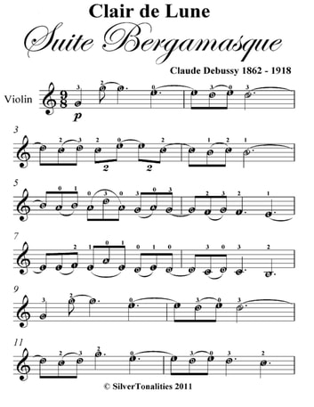 Clair De Lune Sheet Music Easy Ottodeemperor