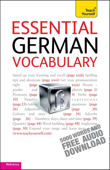 Essential German Vocabulary: Teach Yourself ebook by Lisa Kahlen