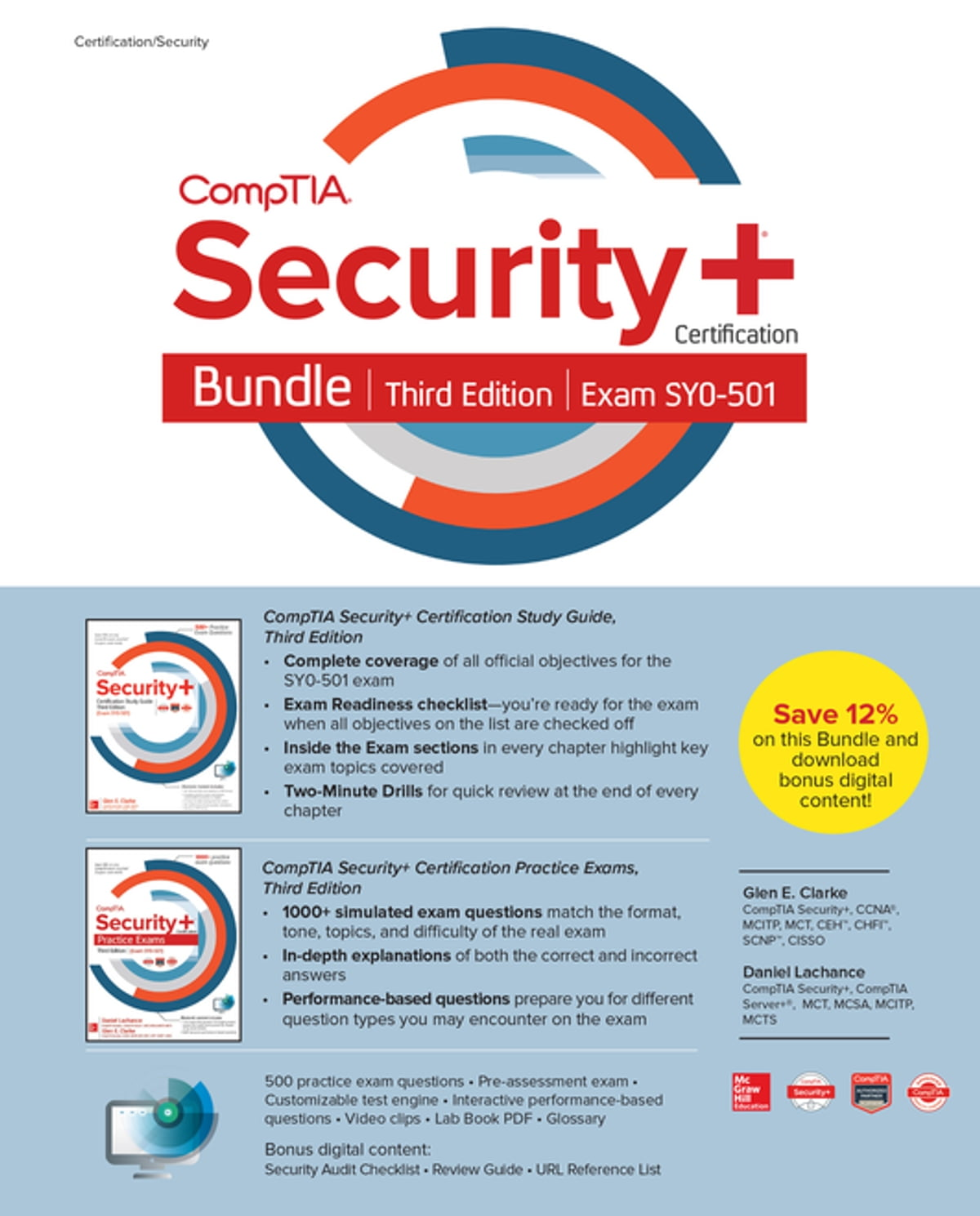 Comptia Security Certification Bundle Third Edition Exam Sy0 501