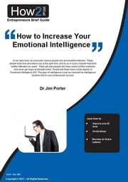 How to Increase Your Emotional Intelligence ebook by Dr Jim Porter