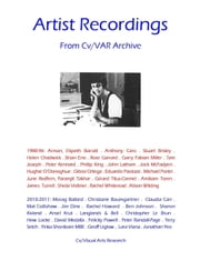 Artist Recordings - From Cv/VAR Archive ebook by Sarah Batiste,Tom Grimsey,Libby Anson,Jeff Instone,Nicholas James