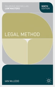 Legal Method ebook by Ian McLeod