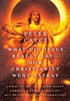 What Did Jesus Really Say-How Christianity Went Astray ebook by Peter Cayce