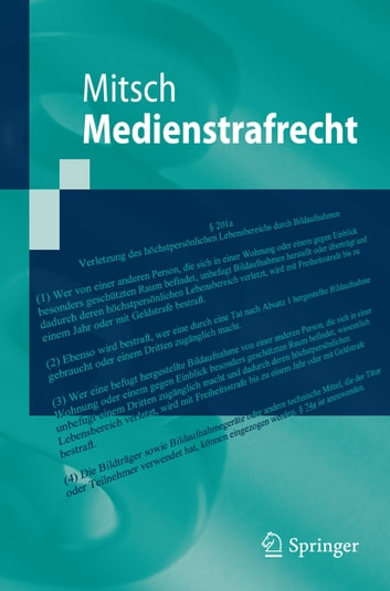Medienstrafrecht ebook by Wolfgang Mitsch