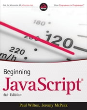 Beginning JavaScript ebook by Paul Wilton, Jeremy McPeak