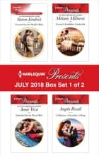 Harlequin Presents July 2018 - Box Set 1 of 2 - Crowned for the Sheikh's Baby\Inherited for the Royal Bed\Tycoon's Forbidden Cinderella\A Mistress, A Scandal, A Ring ekitaplar by Angela Bissell, Annie West, Melanie Milburne,...