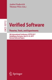 Verified Software. Theories, Tools, and Experiments
