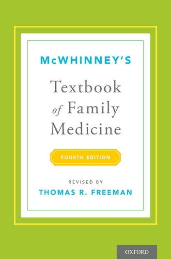 McWhinney's Textbook of Family Medicine ebook by Thomas R. Freeman