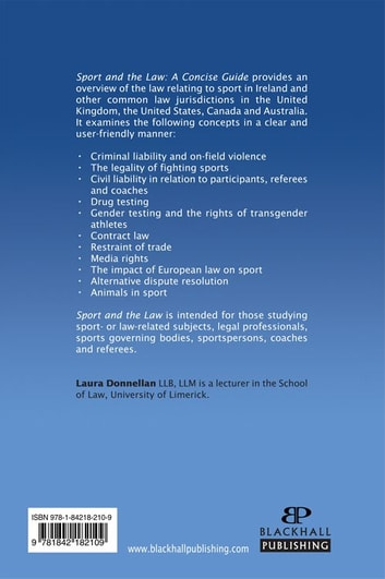 Sport and the Law ebook by Laura Donnellan