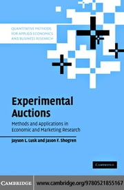 Experimental Auctions ebook by Lusk,Jayson L.