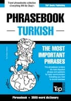 English-Turkish phrasebook and 3000-word topical vocabulary ebook by Andrey Taranov