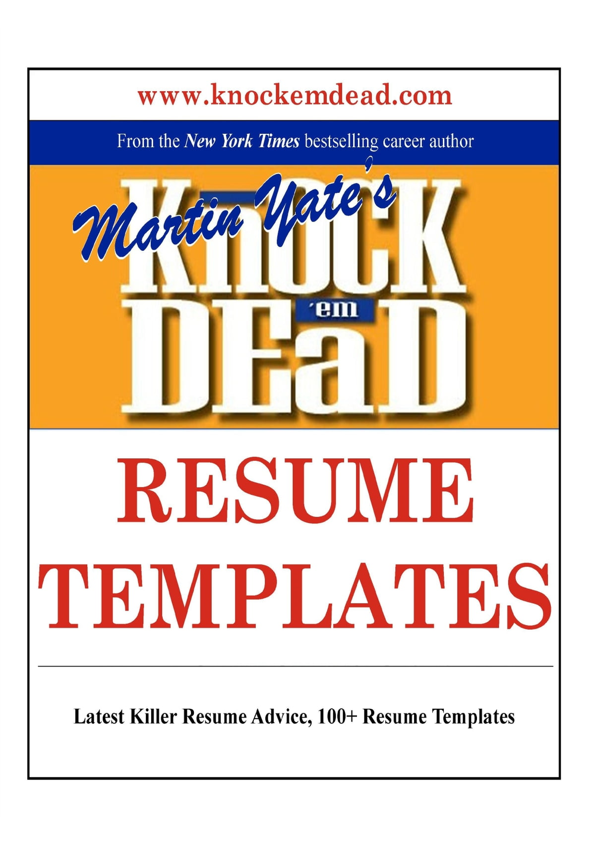 knock em dead resume templates ebook by martin yate