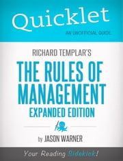 Quicklet On Richard Templar's Rules of Management ebook by Jason  Warner