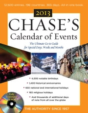 Chases Calendar of Events 2013 with CD-ROM ebook by Editors of Chases Calendar of Events