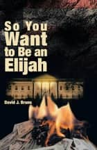 So You Want to Be an Elijah ebook by David J Bruns