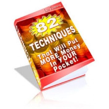 82 Techniques - That Will Put More Money Into Your Pocket ebook by Sven Hyltén-Cavallius