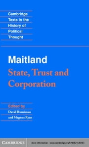 Maitland: State, Trust and Corporation ebook by Maitland, F.W.