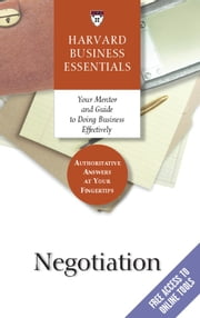 Negotiation ebook by Harvard Business School Press