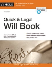 Quick & Legal Will Book ebook by Denis Clifford, Attorney