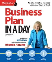 Business Plan In A Day ebook by Rhonda Abrams