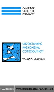 Under Phenomenal Consciousness ebook by Robinson, William S.