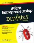 Micro-Entrepreneurship For Dummies ebook by Paul Mladjenovic