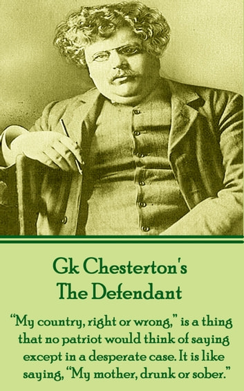 The Defendant ebook by GK Chesterton