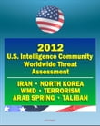 2012 U.S. Intelligence Community Worldwide Threat Assessment: Iran, Nuclear Weapons, Terrorism, al-Qaida, Jihad, Homegrown Terror, WMD, North Korea, Cyber Threat, Taliban, Afghanistan, Arab Spring