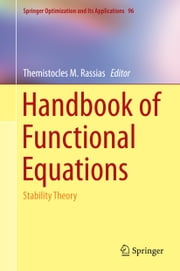 Handbook of Functional Equations - Stability Theory ebook by Themistocles Rassias