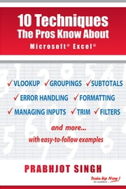 10 Techniques the Pros Know About Microsoft Excel ebook by Prabhjot Singh