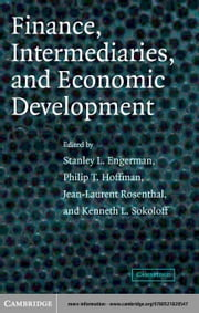 Finance, Intermediaries, and Economic Development ebook by Engerman, Stanley L.