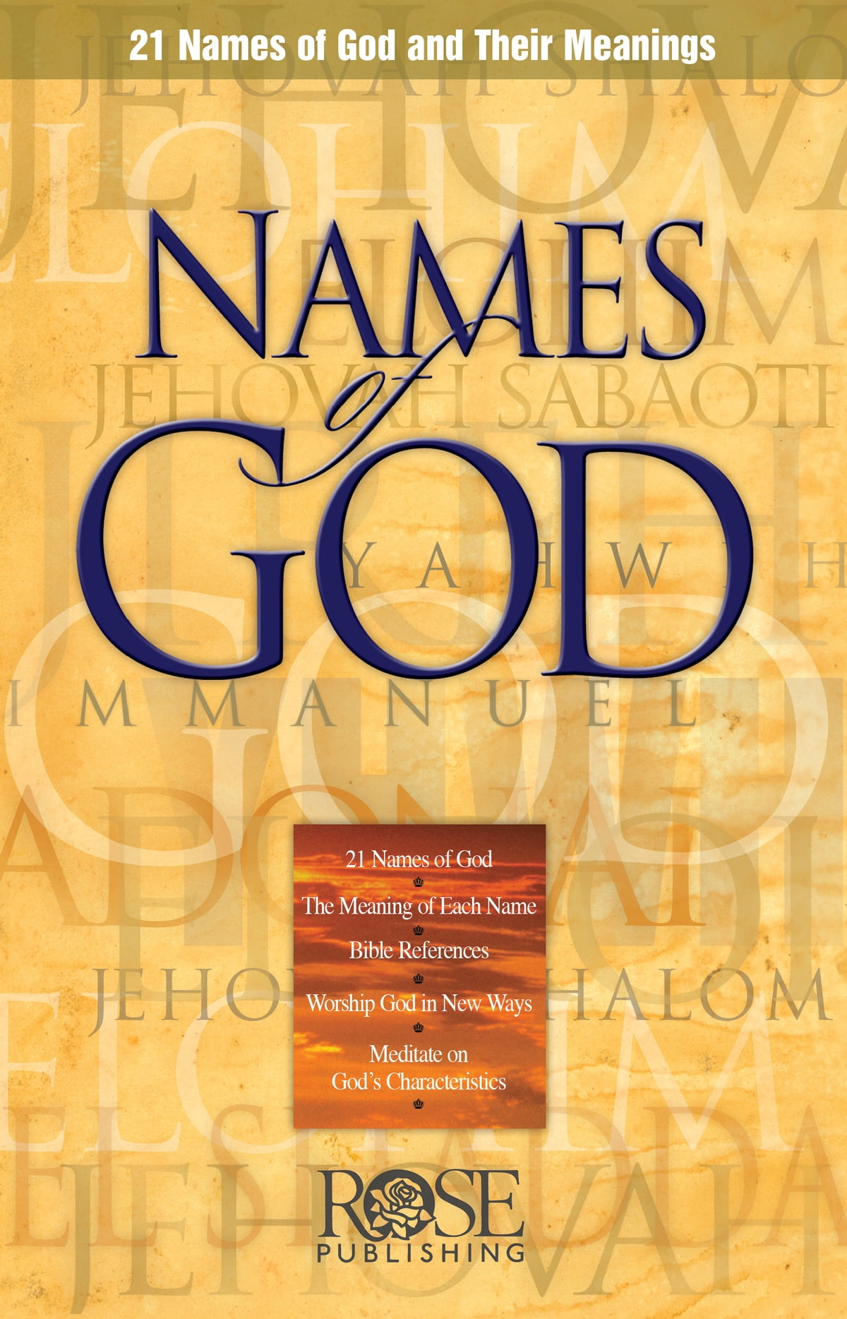 names of god and their meanings - HD1200×1868