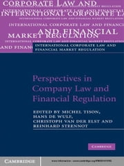 Perspectives in Company Law and Financial Regulation ebook by Michel Tison,Hans De Wulf,Christoph Van der Elst,Reinhard Steennot
