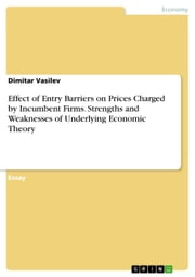 Effect of Entry Barriers on Prices Charged by Incumbent Firms. Strengths and Weaknesses of Underlying Economic Theory ebook by Dimitar Vasilev