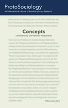 Concepts: Contemporary and Historical Perspectives: ProtoSociology Volume 30