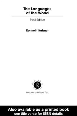 Book The Languages of the World by Katzner, Kenneth