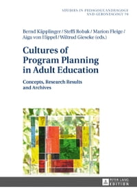 Cultures of Program Planning in Adult Education