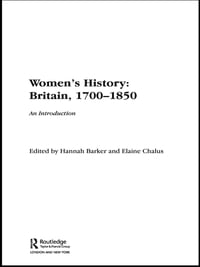 Women's History, Britain 1700–1850: An Introduction