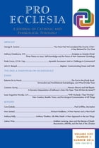Pro Ecclesia Vol 25-N3: A Journal of Catholic and Evangelical Theology by Pro Ecclesia