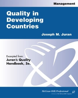 Book Quality in Developing Countries by Juran, Joseph M