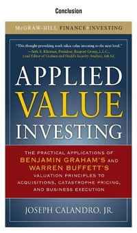 Applied Value Investing, Conclusion:
