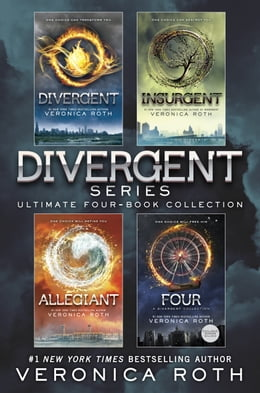 Book Divergent Series Ultimate Four-Book Collection: Divergent; Insurgent; Allegiant; Four by Veronica Roth