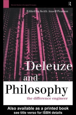 Book Deleuze and Philosophy by Pearson, Keith Ansell