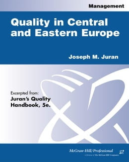 Book Quality in Central and Eastern Europe by Juran, Joseph M.