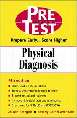 Book Physical Diagnosis: PreTest Self-Assessment and Review by Reteguiz, Jo-Ann