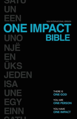 Book NIV, One Impact Bible, eBook: One God. One Person. One Impact. by Terry Squires