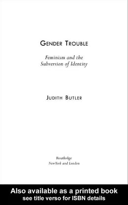 Book Gender Trouble by Butler, Judith