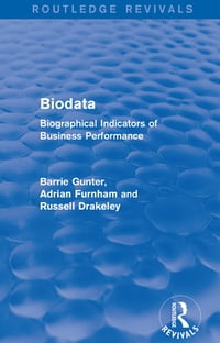 Biodata (Routledge Revivals): Biographical Indicators of Business Performance